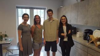 Carolina with fellow grad students and advisor